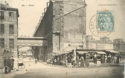 """CPA FRANCE 75004 """"Paris, l'ancien Hôtel Dieu"""""""