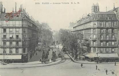 "CPA FRANCE 75004 ""Paris, avenue Victoria"""