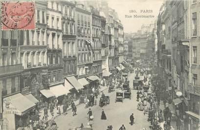 """CPA FRANCE 75002 """"Paris, rue Montmartre"""""""