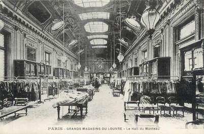 """CPA FRANCE 75001 """"Paris, grands magasins du Louvre, le hall du manteau"""""""