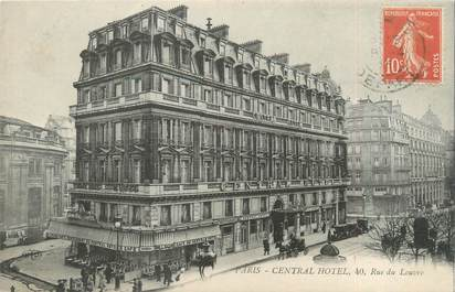 "CPA FRANCE 75001 ""Paris, central hôtel"""