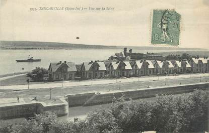 """CPA FRANCE 76 """"Tancarville, vue sur la Seine"""""""