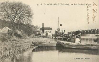"""CPA FRANCE 76 """"Tancarville, les bords du canal"""""""