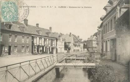 """CPA FRANCE 76 """"Clères, maisons sur la Clerette"""""""