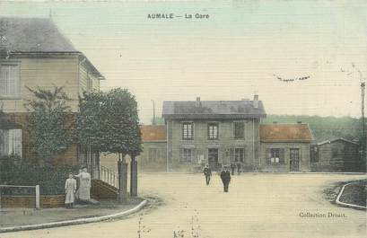 "CPA FRANCE 76 ""Aumale, la gare """