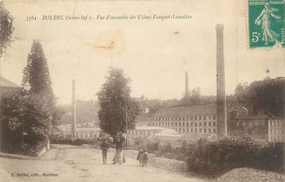 """CPA FRANCE 76 """"Bolbec, vue d'ensemble des usines Fauquet Lemaître"""""""