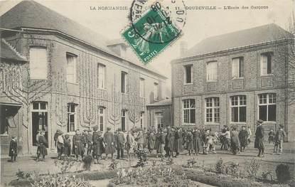 """CPA FRANCE 76 """"Doudeville, l'école des garçons"""""""