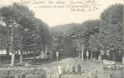 "CPA FRANCE 76 ""Gournay en Bray, les grands boulevards"""