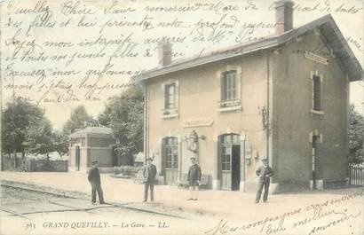 """CPA FRANCE 76 """"Le Grand Quevilly, la gare"""""""