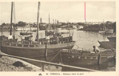 """CPA FRANCE 29 """"Tréboul, bateaux dans le port"""""""