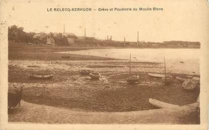 """CPA FRANCE 29 """"Le Relecq Kerhuon, grève et poudrerie du moulin blanc"""""""