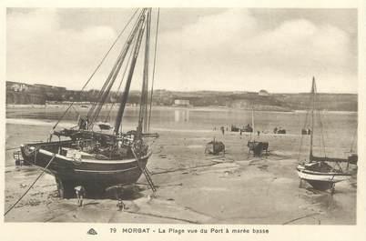 """CPA FRANCE 29 """"Morgat, la plage vue du port à marée basse"""""""