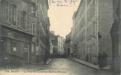 """CPA FRANCE 29 """"Brest, la rue du quartier Maitre Bondon"""""""