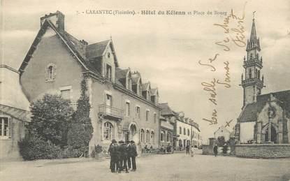 """CPA FRANCE 29 """"Carantec, hôtel du Kélenn et place du Bourg"""""""