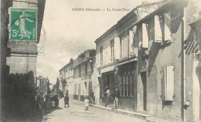 "CPA FRANCE 33 ""Ambes, la Grand'rue"""