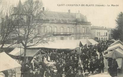 """CPA FRANCE 33 """"Saint Christoly de Blaye, le marché"""""""