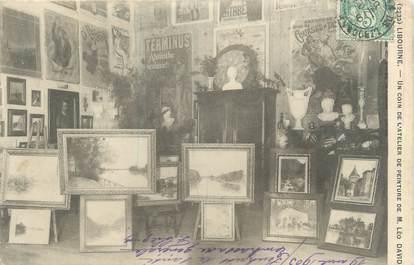 """CPA FRANCE 33 """"Libourne, un coin de l'atelier de peinture de Mr Léo David"""""""