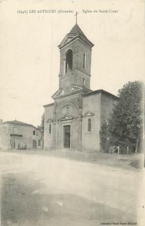 """CPA FRANCE 33 """"Les Artigues, église du Sacré Coeur"""""""