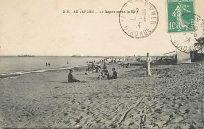 """CPA FRANCE 33 """"Le Verdon, le repos après le bain"""""""