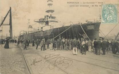 """CPA FRANCE 33 """"Bordeaux, le cuirassé Vérité """""""