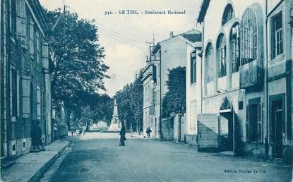 "/ CPA FRANCE 07 ""Le Teil Bld national"""