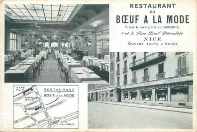 """CPSM FRANCE 06 """"Nice, restaurant du boeuf à la mode"""""""