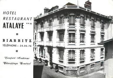 "CPSM FRANCE 39 ""Biarritz, hôtel restaurant Atalaye"""