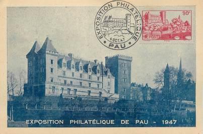 """CPSM FRANCE 64 """"Exposition philatélique de Pau"""" / CARTE MAXIMUM"""