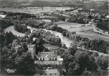 """CPSM FRANCE 64 """"Coaraze, vue aérienne sur le château"""""""