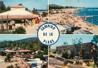 "CPSM FRANCE 83 ""Grimaud, camping de la plage"""