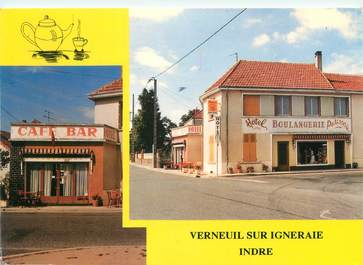 "CPSM FRANCE 36 ""Verneuil sur Igneraie, hotel du commerce"""