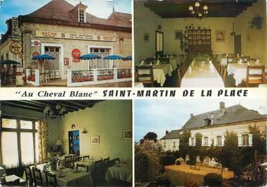 """CPSM FRANCE 49 """"Saint Martin de la Place, hôtel restaurant au cheval Blanc"""""""