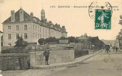 "CPA FRANCE 78 ""Mantes, Bld Saint Lazare"""