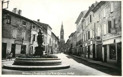 """/ CPSM FRANCE 07 """"Vernoux, la rue Simon Vialet"""""""