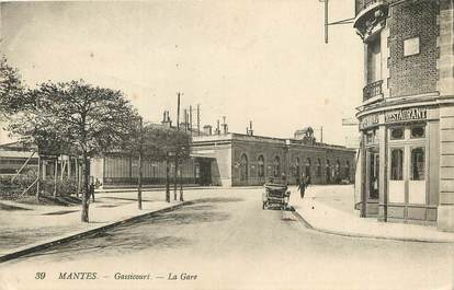 "CPA FRANCE 78 ""Mantes, Gassicourt, la gare"""