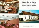 "58 Nievre CPSM FRANCE 58 ""Alligny en Morvan, hôtel de la poste"""