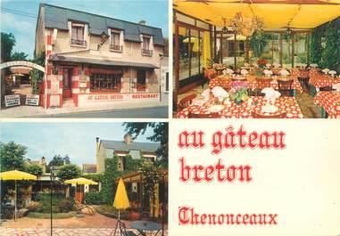 """CPSM FRANCE 37 """"Chenonceaux, restaurant au gâteau Breton"""""""