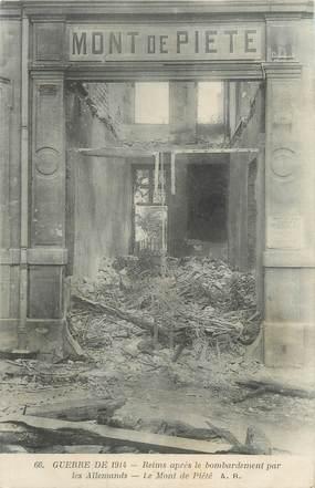 """CPA FRANCE 51 """"Reims après le bombardement par les enfants, le Mont de Piété"""""""