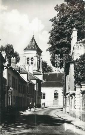 """CPSM FRANCE 91 """"Soisy sur Seine, l'église au soleil levant"""""""
