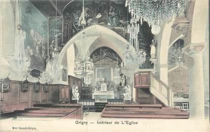 """CPA FRANCE 91 """"Grigny, intérieur de l'église"""""""