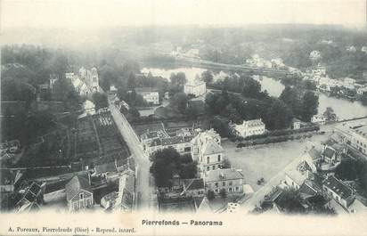 "CPA FRANCE 60 ""Pierrefonds, panorama"""