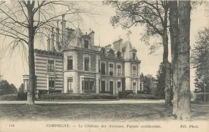 """CPA FRANCE 60 """"Compiègne, le château des avenues"""""""