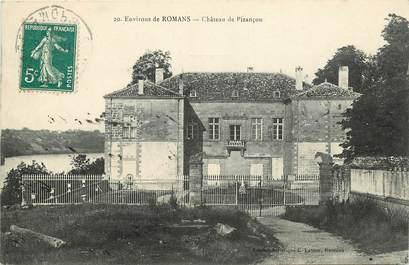 """CPA FRANCE Env. de Romans, Château de Pizançon"""""""