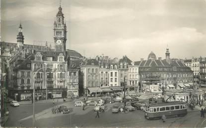 """CPSM FRANCE 59 """"Lille, place du Général de Gaulle"""" / TRAMWAY"""