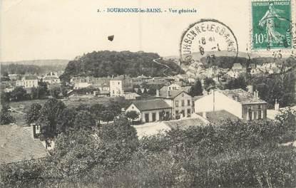 """CPA FRANCE 52 """"Bourbonne Les Bains, vue générale"""""""