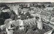 """91 Essonne CPSM FRANCE 91 """"Dourdan, l'ensemble du château vu du haut de l'église"""""""