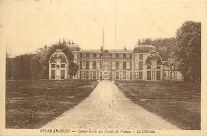 """CPA FRANCE 91 """"Chamarandes, camp école des scouts de france, le château"""""""