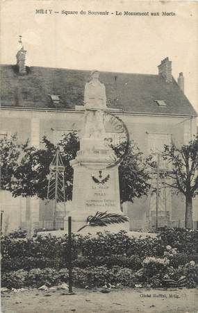 "CPA FRANCE 91 ""Milly, square du souvenir, le monument aux morts"""