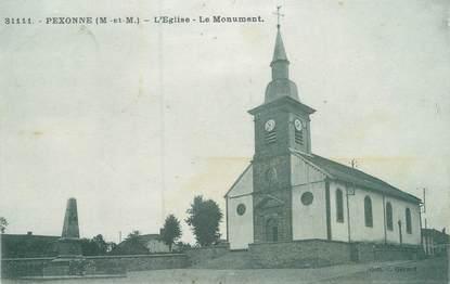 """CPA FRANCE 54 """"Pexonne, l'église, le monument"""""""
