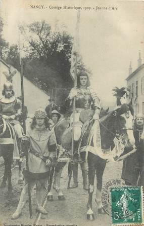 """CPA FRANCE 54 """"Nancy, cortège historique 1909, Jeanne D'Arc"""""""